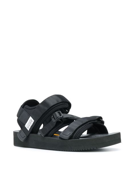 Suicoke hook & loop strappy sandals man black SUICOKE | Sandals | OG-044V001